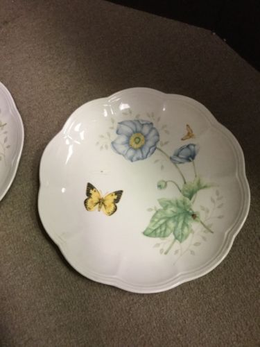 """Set of 2 Lenox Butterfly Meadow Monarch 9 1/4"""" Luncheon Plates image 7"""