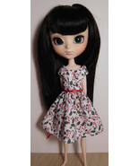 Candy Cane Pullip Momoko Jenny Doll Size Dress Hand Made by Me Cotton OOAK - $19.97