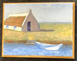 Oil Painting Original Provence France Camargue House 12x16 Signed David ... - $233.75