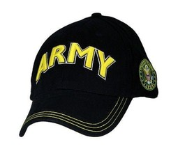 U.S. ARMY with Gold ARMY Logo & Seal Officially Licensed Baseball Cap Hat - $20.99