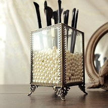 PuTwo Makeup Organizer Vintage Make up Brush Holder with Free White Pear... - $24.52
