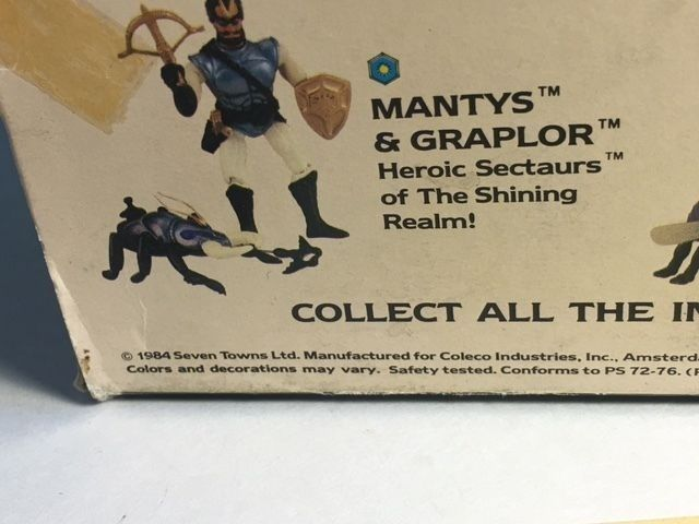 VINTAGE SECTAURS WARRIORS SYMBION 1984 COLECO INSECTS BOX ZAK WITH BITAUR BEAST
