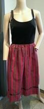 Vtg 18.3ms 21.3ms Lanz Original Brauner samt Streifen Hosen Kleid 7/8 - $79.99
