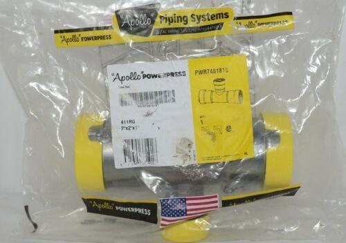Apollo Powerpress Carbon Steel Press Tee Two Inch PWR7481815