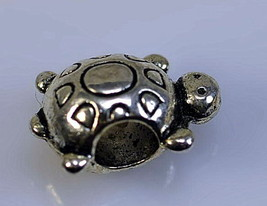 NICE Adorable cartoon style Turtle shell Charm bead for jewelry Sterling... - $15.96