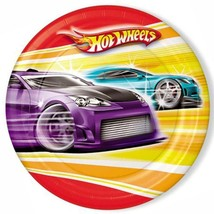 Hot Wheels Fast Action Party Lunch Luncheon Dinner Plates 8 Per Package NEW - $5.20