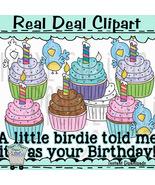 Little Birdie Birthday Clip Art - $1.25