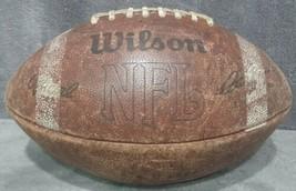 Vintage 1984 Wilson Official NFL Pete Rozelle Leather Football White Stripe EKU - $74.99
