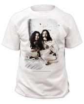 John Lennon-In Bed-John and Yoko-Red Rose-XXL White T-shirt - $9.74