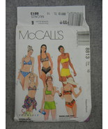 Misses 2 piece Swimsuit and Sarong McCalls 8813 Size 10 uncut Factory F... - $14.50
