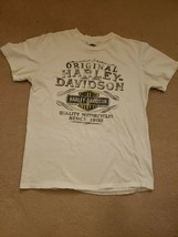 Womens harley davidson White T shirts large Indy West Indianapolis doubl... - $14.20