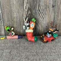 Vintage 1998 Loony Tunes Christmas Holiday Tree Ornaments (Lot Of 3) ~by... - $19.79