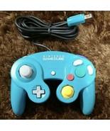 Nintendo GameCube Controller Emerald Blue GC Video Game Controller From Japan - $49.49