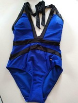 Ted Baker London Bright Blue Triangle Cut Outs One Piece SwimSuit Size 1/XS US image 1