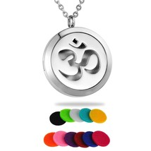 HooAMI Aromatherapy Essential Oil Diffuser Necklace - Yoga Aum Om Ohm Sa... - $22.11