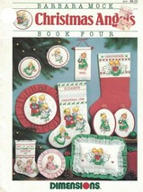 Christmas Angels Book Four Barbara Mock for Counted Cross Stitch Dimensions 1988 - $9.89