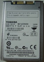 "New 160GB 1.8"" uSATA Hard Drive Toshiba MK1633GSG HDD1F15 Free USA Shipping - $58.70"