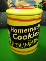 Collectable HOMEMADE COOKIES for DUMMIES Cookie Jar...............SALE - $7.92