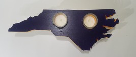 North Carolina ECU Purple and Gold 2 Candle Holder with Hairpin Legs - $45.00