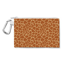 Giraffe Print Canvas Zip Pouch - $15.99+