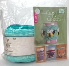 Leisure Arts Cup Cozies Crochet Pattern Book Yarn Bee Sugarwheel Minted ... - $17.82