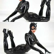Lingerie Halloween Catwoman Cosplay Club Party Faux Leather Costume Jump... - $24.99
