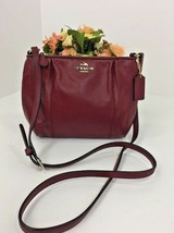 Coach Crossbody Bag Colette F52177 Crimson Leather Swingpack  B5 - $98.95