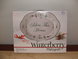New In Box Pfaltzgraff Winterberry Bless This House Platter/serve Plate - $20.05