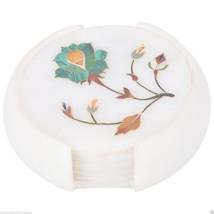 Marble Coaster Set Kitchen Home Accessories Malachite Marquetry Art Deco... - $1.991,49 MXN