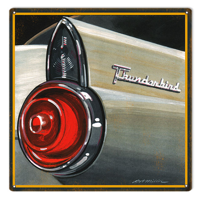 Primary image for Reproduced from Original Art by Bob Miller Ford Thunderbird Rear Tail Light Sign
