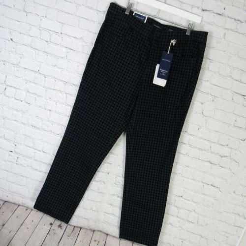 charter club pantalon femmes 18 vert noir pied de poule. Black Bedroom Furniture Sets. Home Design Ideas