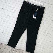 Charter Club Pantalon Femmes 18 Vert Noir Pied-De-Poule Lexington Mrsp - $51.28