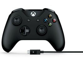 Microsoft 4N6-00003 Black Gamepad PC Xbox One Gaming Controller+Cable fo... - $47.81