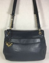 Chaus Accessories Vintage Blue Leather Shoulder Bag- Gold Tone HW - $57.22