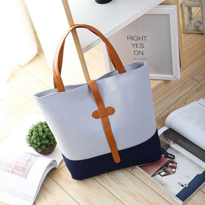 Women Handbags Casual Canvas Tote Ladies Shoulder Bags Soft Universal Top-handle