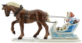 Hagen-Renaker Specialties Ceramic Christmas Figurine Horse Drawn Sleigh image 6