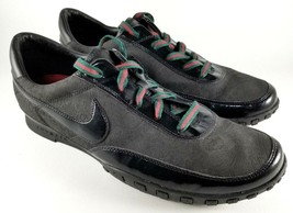 Nike Waffle Racer III 3 Athletic Shoes SZ 14 Mens Sneakers Black Green R... - $280.49