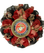 The Few The Proud The Marines Handmade Deco Mesh Wreath - $94.99