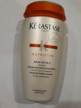 Kerastase Bain Satin 2 Complete Nutrition Shampoo Dry Sensitised Hair 8.5oz New - $27.55