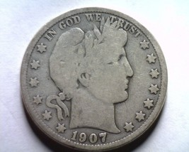 1907-O Barber Half Dollar Good+ G+ Nice Original Coin From Bobs Coins Fast Ship - $23.00