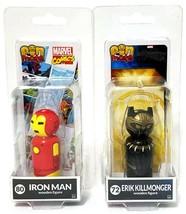 2 Packs - PinMate Marvel Comics 72 Erik Killmonger & 80 Iron Man Wooden ... - $9.89