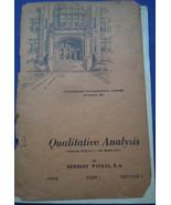 Vintage Qualitative Analysis International Correspondence Schools 1938 - $1.99