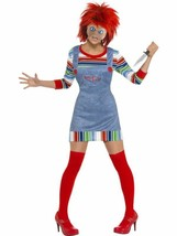Chucky Costume - Ladies, US Size 16-18, Chucky Licensed Fancy Dress/Cosp... - $57.36