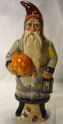 Vaillancourt Folk Art Haunted Village Santa Halloween Personally Signed by Judi!