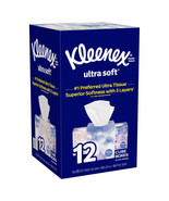 Kleenex Ultra Soft Facial Tissue, 3-ply, 85-count, 12-pack - $31.99