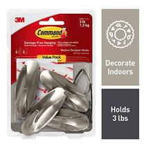 Command 3 lb Capacity Hooks, Indoor Use, 4 hooks, 6 strips image 11