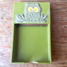 Avocado Green Notepad Holder with Cute Owl - $7.91