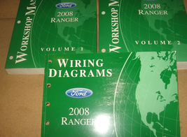 2008 ford ranger truck service repair workshop manual oem set with ewd - $128.80