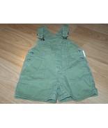 Infant Size 3-6 Months Gymboree Solid Green Shortalls Bib Overalls EUC  - $12.00