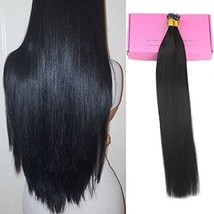 Full Shine 16 inches 50 Strands 0.8g Per Strand I Tip Hair Extensions Brazilian